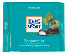 Ritter Sport Dark Chocolate Peppermint Fondant Bar 100g